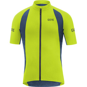 GORE WEAR C7 Pro Maillot de cyclisme Homme, citrus green/deep water blue